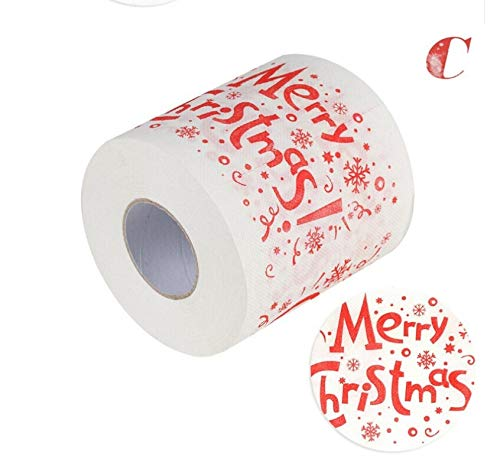 Draagbare toiletpapierhouders - Merk Kerstman Xmas Thuis Huishoudelijk Toiletpapier Roll 2 Lagen Woonkamer Papieren - Schoenpapier Glas Huishoudelijke Houder Klok School Magneet Doos Bloem Vloer De Rood