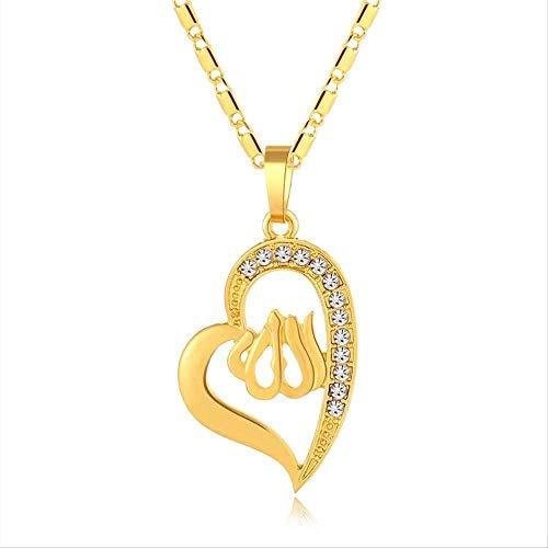 NC110 Collar de joyería clásica Color Dorado Collares de corazón Vintage ColgantesJoyas YUAHJIGE