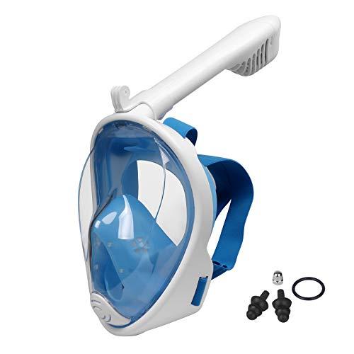 Lamker Máscara de Buceo Niños de Cara Completa 180° Panorámica Máscaras de Snorkel Cámara Deportiva Compatible Anti-Niebla y Anti-Fugas Gafas de Bucear
