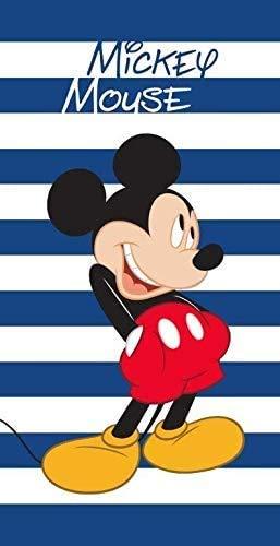 Unbekannt Baumwolle Handtuch Mickey Mouse Streifen 70x140 cm
