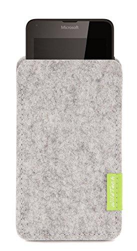 WildTech Sleeve für Microsoft Lumia 640 XL Dual SIM Hülle Tasche - 17 Farben (made in Germany) - Hellgrau