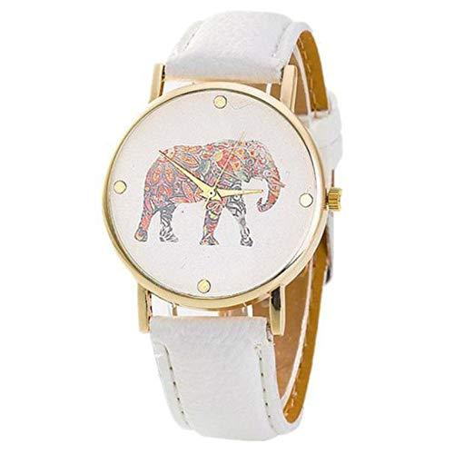 WHEatch Reloj de Pulsera Reloj de señora Temperamento Reloj de señora con patrón de Elefante