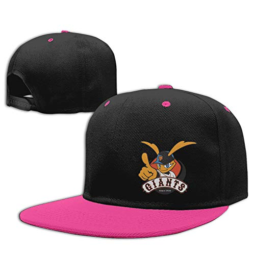 Jiso-Bag コントラスト ヒップホップ ベースボール キャップ 野球 東京ジャイアンツ Pink 帽子 野球帽 平つば 硬つば 長つば スナップボタン メンズ