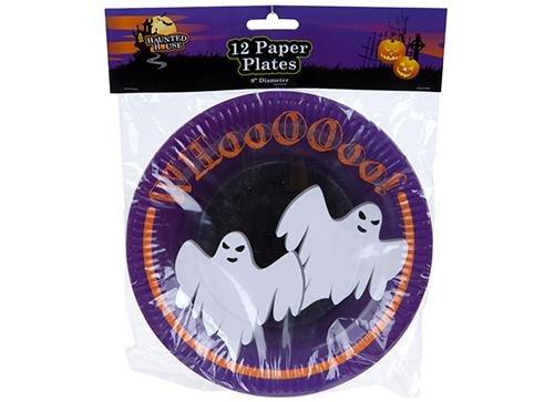 Pour Halloween Design Lot de 12 assiettes en carton 23 cm