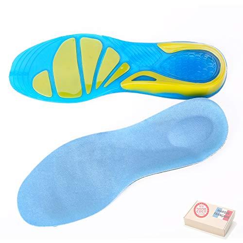 TAKIT Semelles Chaussures Gel - NOUVEAU 2020 - Une Paire - Soulage la douleur - Idéale pour le sport, la marche, la course à pied, la randonnée - 39-42