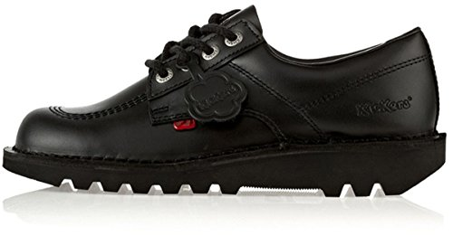 Kickers Kick Lo J Black Leather 3 US Child