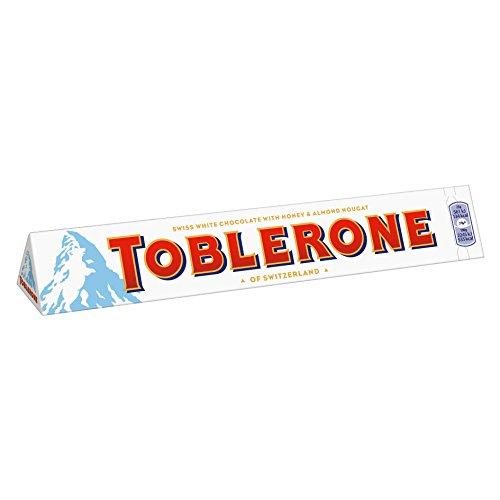 Toblerone weiß Schokoladenriegel, groß, 360 g