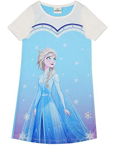 Frozen Elsa Snowflake Girl'S Kids - Vestido de Noche de Pijama Manga Corta