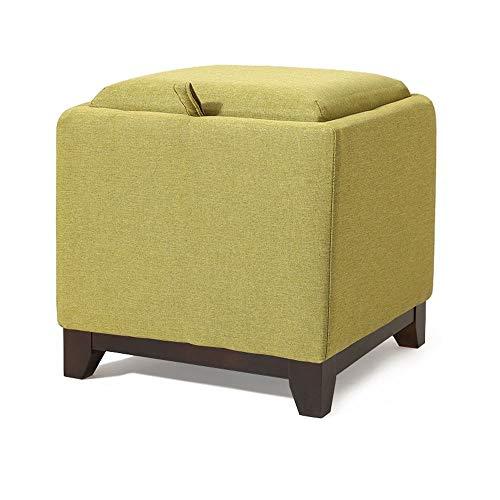 BYTGK voetensteun poef slaapbank zacht stoffen kussen voetenbank kruk ruststoel voor woonkamer F0306 (kleur: groen)