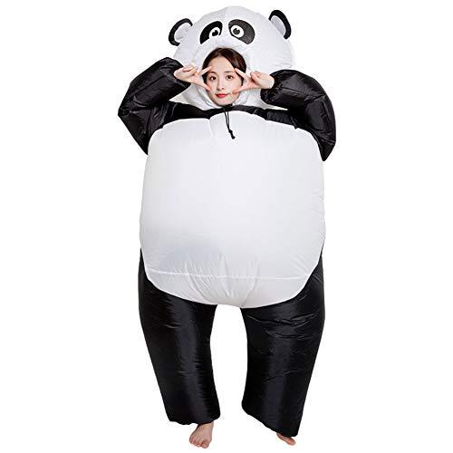 LINAG Aufblasbares Kostüm für Halloween Karneval Fastnacht Fasching Erwachsene Cosplay, Panda Kleidet Aufblasbares Modell der Karikaturtierpuppen,OneSize