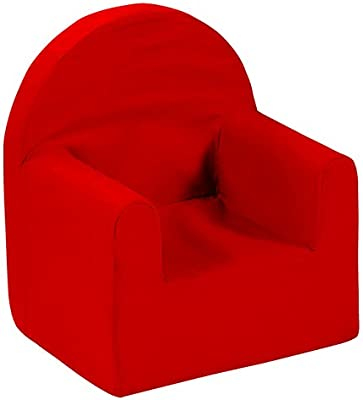 Room Studio 530042 Fauteuil Forme Club Polyester Rouge 29,5 x 37,5 x 41 cm
