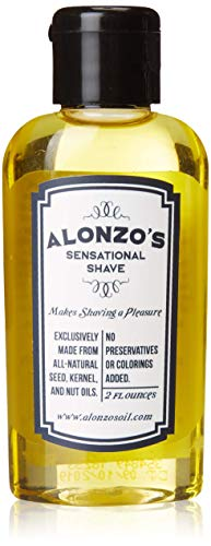 Alonzo's Sensational Shave - Shaving Oil for Men (1-Pack, 2 Oz Bottle) All-Natural Pre-Shave & After Shave Oil for Face and Body - Moisturizes & Calms Irritated Skin from Razor Burn