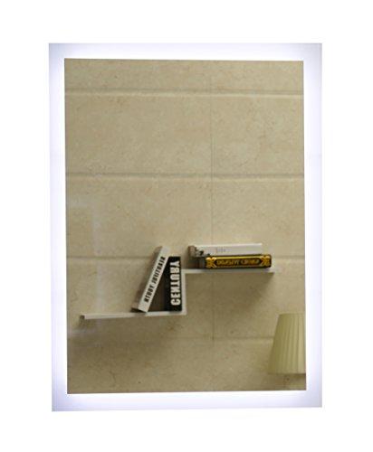 Dr. Fleischmann Badspiegel LED Spiegel GS084N mit Beleuchtung durch satinierte Lichtflächen Badezimmerspiegel (50 x 70 cm, kaltweiß)