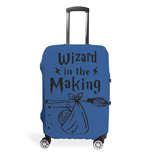 Wizard in The Making Travel Luggage Protector Reusable Prevents Scuffs Fits 18-32 Inch for Wheeled Suitcase Over Softsided Magic owl White m(22-24 inch)
