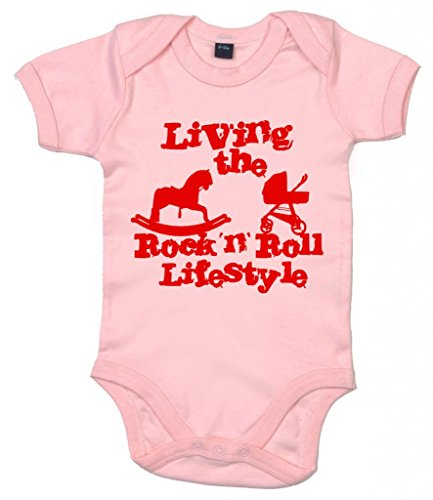 Image Vêtements bébé, Living The Rock 'n Roll Lifestyle, Body Bébé, 6-12m, Rose