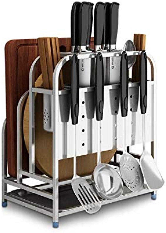 DJYmoyimo Edelstahl Messerhalter Messerhalter Messerhalter Messerhalter   Küche liefert Rack   Multifunktions-Küchenmesser Lagerregal   Schneidebrett Schneidebrett Rahmen Wand hängen B07Q4NPYCN 28c0d9