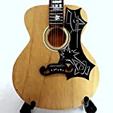 Mini guitare de collection réplique en bois?Elvis Presley