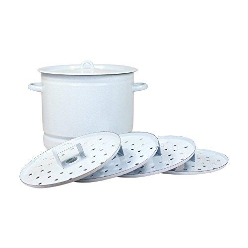 posylka.de Mantykocher Dampfkocher - Komfort, emailliert, 12 Liter, 4xAuflagen