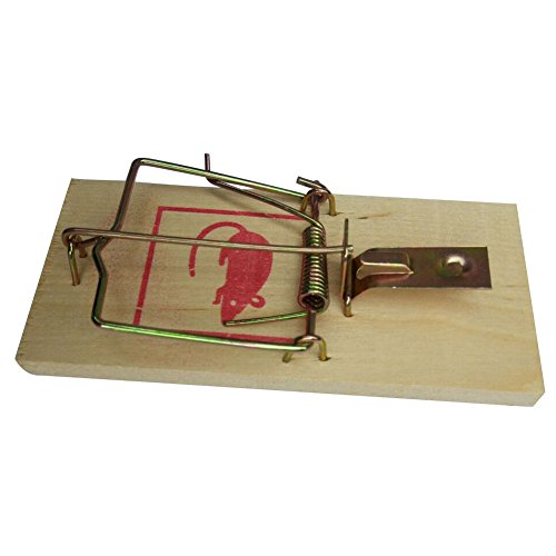 tooloflife 1/4x Wooden Mouse Trap Rat Traps Catching Traps Reusable Bait Pest Catcher for Control Indoors and Outdoors