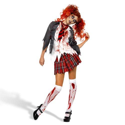 Zombie Schulmädchen Damenkostüm - 'High School Horror' - Gr. S (36/38)
