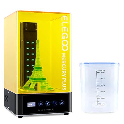 ELEGOO Mercury Plus Waschen & Aushärten Maschine, 2 in 1 UV LED Härtungsbox mit Rotary Aushärten Drehscheibe und Waschen Eimer für LCD/DLP/SLA 3D Drucker Modelle
