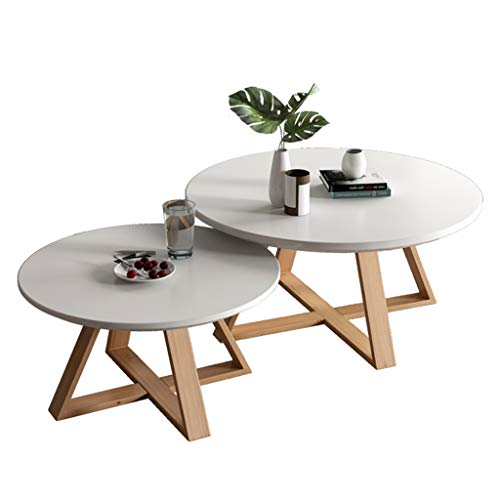 Las mesas de Centro Redondas de Madera Modernas de la Mesa de Centro del Lado de la jerarquización mesas del Extremo fijan con la Mesa de Madera, Muebles nórdicos del diseñador