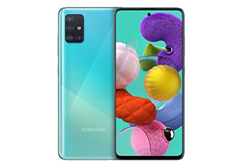 Samsung Galaxy A51 (16.4cm (6.5 Zoll) 128 GB interner Speicher, 4 GB RAM, Dual SIM, Android, prism crush blue) Deutsche Version