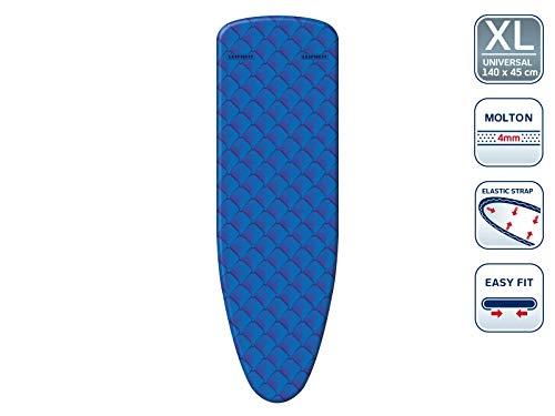 Leifheit Bügeltischbezug Cotton Comfort Universal, für Bügelflächen bis max. 140 x 45 cm, mit extra dicker Polsterung, elastischem Gummizug