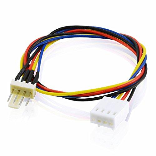 AABCOOLING C17 - Prolongador del cable de alimentación del ventilador con enchufe 4 Pin PWM
