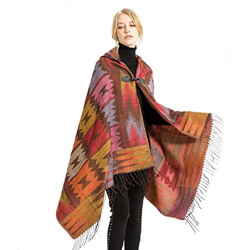 Warm Women Blanket Scarf Oversized Tassel Tartan Wrap Shawl Plaid Cozy Checked Pashmina Cape (3)