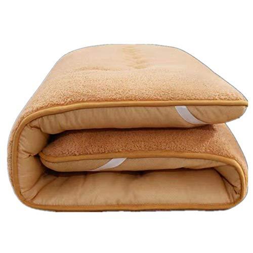 YAHAO Futon Mattress,Cotton Tatami Floor Mat Anti-slip Folding Mattress Breathable Skin-friendly Mat Sleeping Pad Japanese Student Dormitory Mattress,Lightcoffeecolor-150 * 200cm
