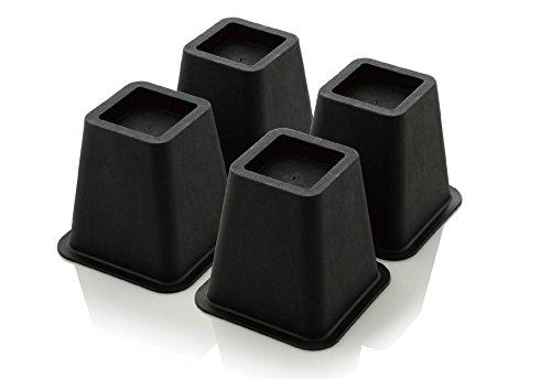 Design61 Elevador de Muebles, Elevador de Cama, Elevador de Muebles, Elevador de Mesa, Elevador de Elefantes, Altura Aprox. 15 cm, 4 Unidades para pies de hasta 68 x 68 mm.