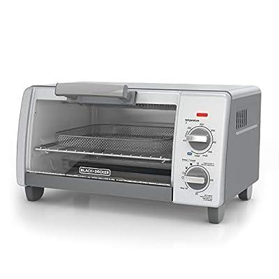 BLACK+DECKER TO1785SG Crisp N Bake Air Fry Toaster Oven, 4-Slice, Gray