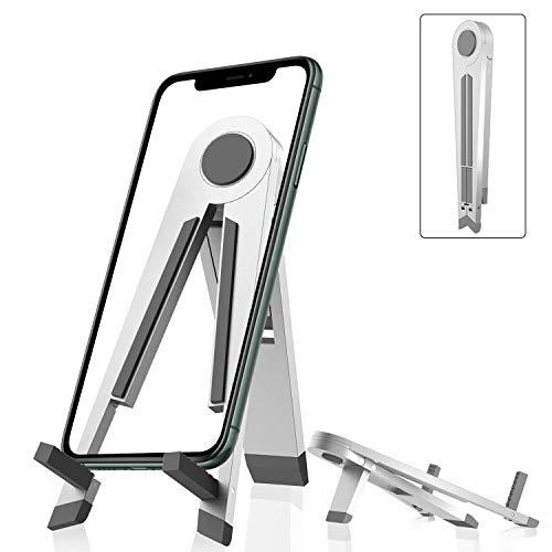 Soporte para tablet de aluminio, ajustable, universal, plegable, para iPhone, iPad, iPad 2, iPad Air Mini, Samsung Nintendo Switch