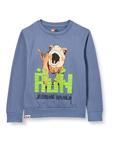 LEGO Jungen MW Jurassic World Sweatshirt, 507 Light Blue, 122