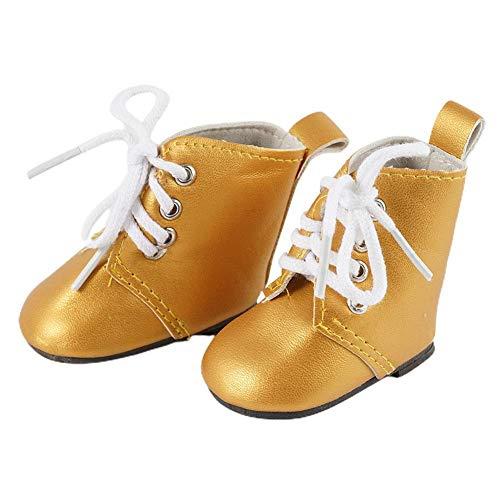 Muñeca de moda de 18 pulgadas con cordones, botas, accesorios, Mini zapatos de juguete para muñeca Barbie, regalos de cumpleaños para niños y niñas