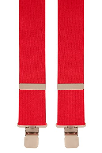 Brimarc Tools & Machinery Heavy Duty Trouser Braces (Red)