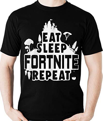 Camiseta Eat Sleep Fortnite Repeat - Game M2