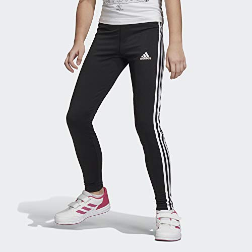 adidas Mallas Training Equipment 3 Bandas, Niñas, Negro(Black/White), 5-6Y