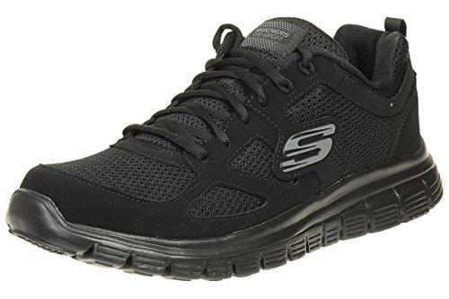 Skechers Herren Burns Sneaker, Schwarz (Black 52635-Bbk), 42 EU