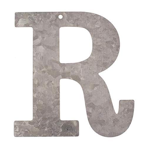 Metall Buchstabe R, verzinkt Höhe 12 cm Alphabet - Initialien
