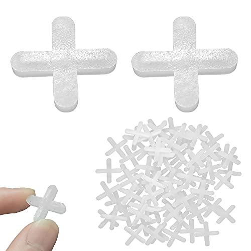 Rayong 1000Pcs Fliesenkreuze 4mm Fugenkreuze Fliesen Abstandhalter Fugenkreuze 4mm für Terrassenplatten leichmäßigen Abstand, können verfugt werden, Fugen Kreuz