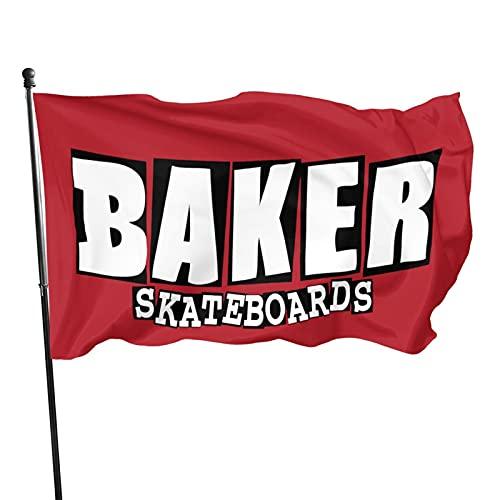 YeeATZ Ba-Ker Flags - Skateboards Flag 3x5 Ft Fahnen Flagge Flag Banner Polyester Material Gartenbalkon Gartendekoration Im Freien 90x150cm xwxb