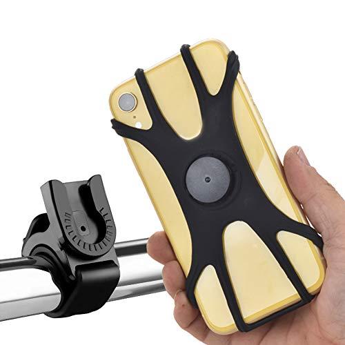 "GLOSSE Fahrrad Handyhalterung, Motorrad Fahrrad Lenker Handy Halterung, 360 ° Drehbarer Lenker Stand für 4,5 ""-7,5"" Smartphones"