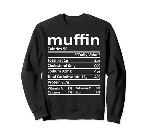 Nutricin Muffin Funny Accin de Gracias Comida Navidad Sudadera