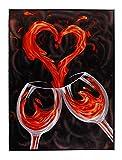 Luxury Artistry Parent - 3d Metal Art, American Flag Bald Eagle, Golden Gate Bridge, Red Wine (Red Wine)