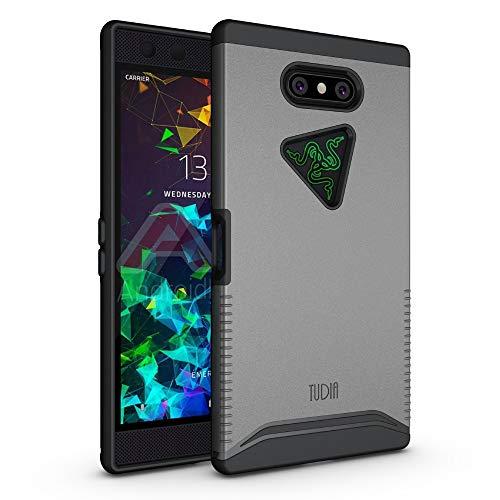 TUDIA Merge, Dual-Layer-Hülle für Razer Phone 2 [2018] (Metallischer Schiefer)