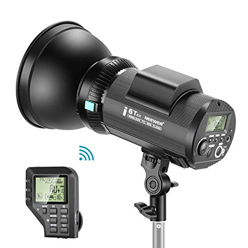 Neewer i6T EX 600W 2.4G TTL Studio Strobe 1/8000 HSS Flash Monolight Compatible with Sony, Wireless Trigger/Modeling Lamp/Recycle in 0.2-1 Sec/Lithium Battery(400 Full Power Flashes)/Bowens Mount