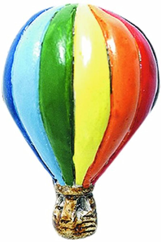 Shipwreck Beads 26mm Peruvian Hand Crafted Ceramic Hot Air Balloon Beads, Rainbow, 3 per Pack