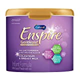 Enfamil Enspire Gentlease Infant Formula with Lactofrerrin, DHA, and MFGM for Brain Support and Immune Health, Eases Gas, Fussiness, Crying in 24 Hours, Non-GMO, Reusable Powder Tub, 20 Oz